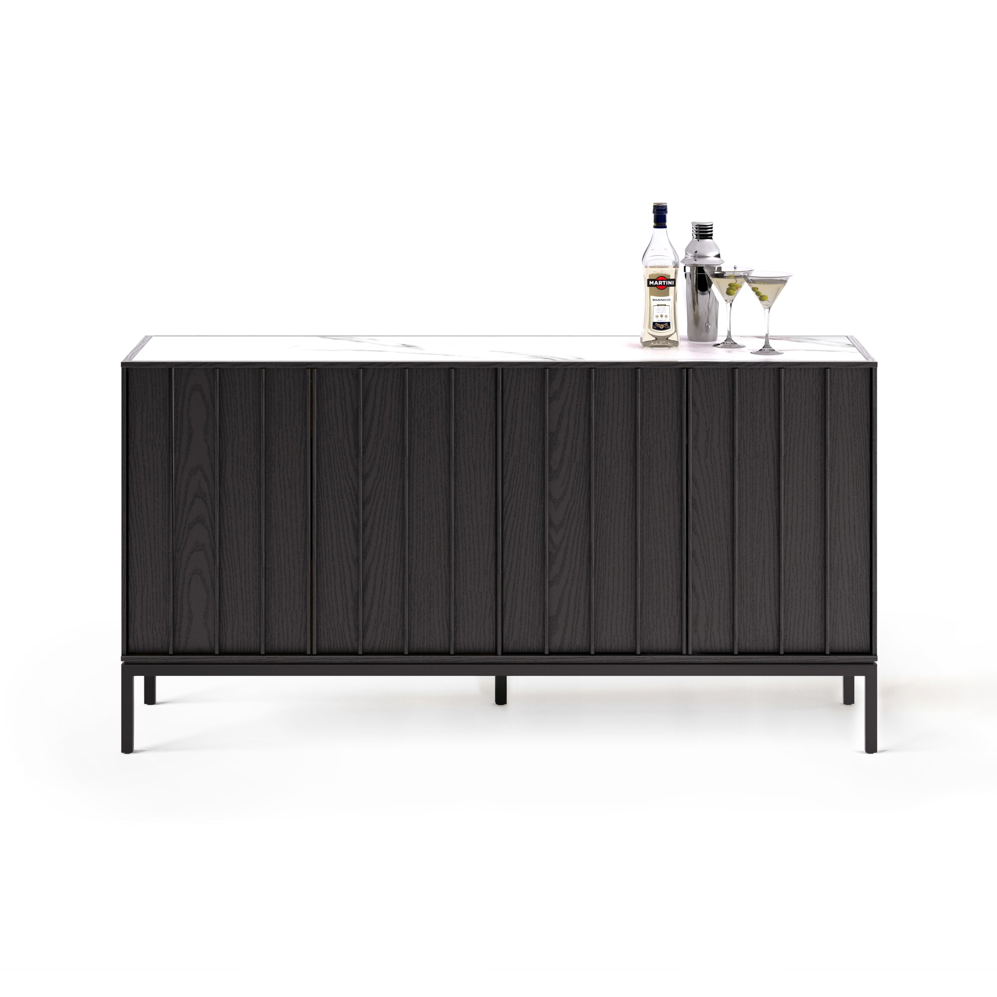 Picture of: Cosmo 5729 Buffet Cabinet Ebony Ash Clu Living