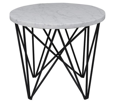 Elle Criss Cross Round Side Table