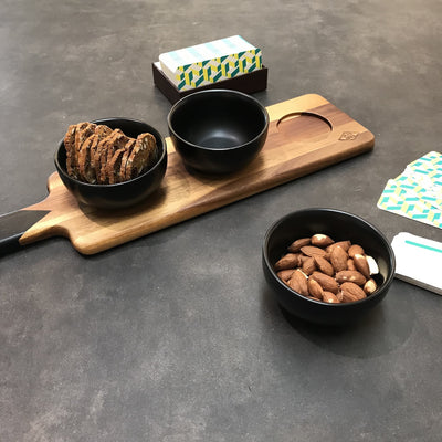 Dip Bowls and Serving Board Set