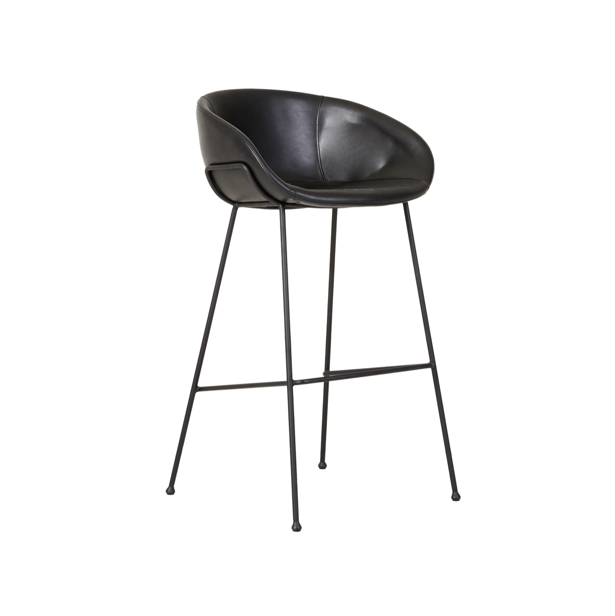 Duke Bench Barstool | Black