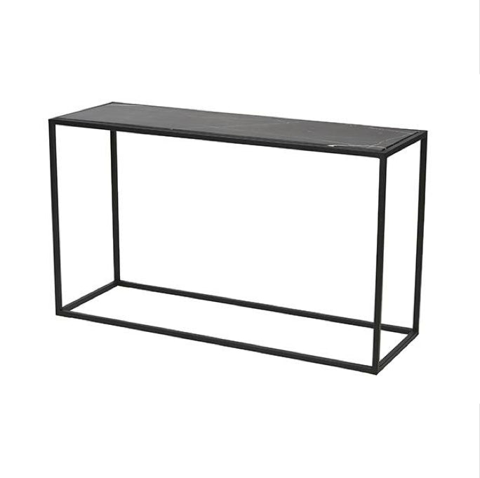 Elle Cube Marble Console Table Clu Living