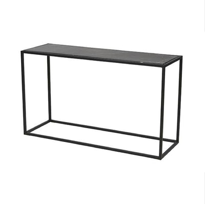 Matt black marble top/Black frame