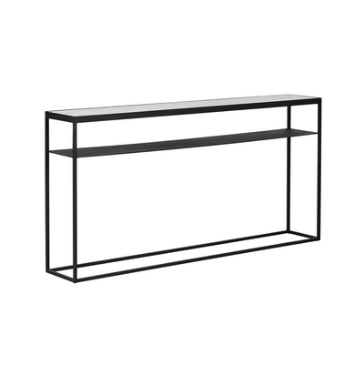 Elle Slim Marble Console Table | Black