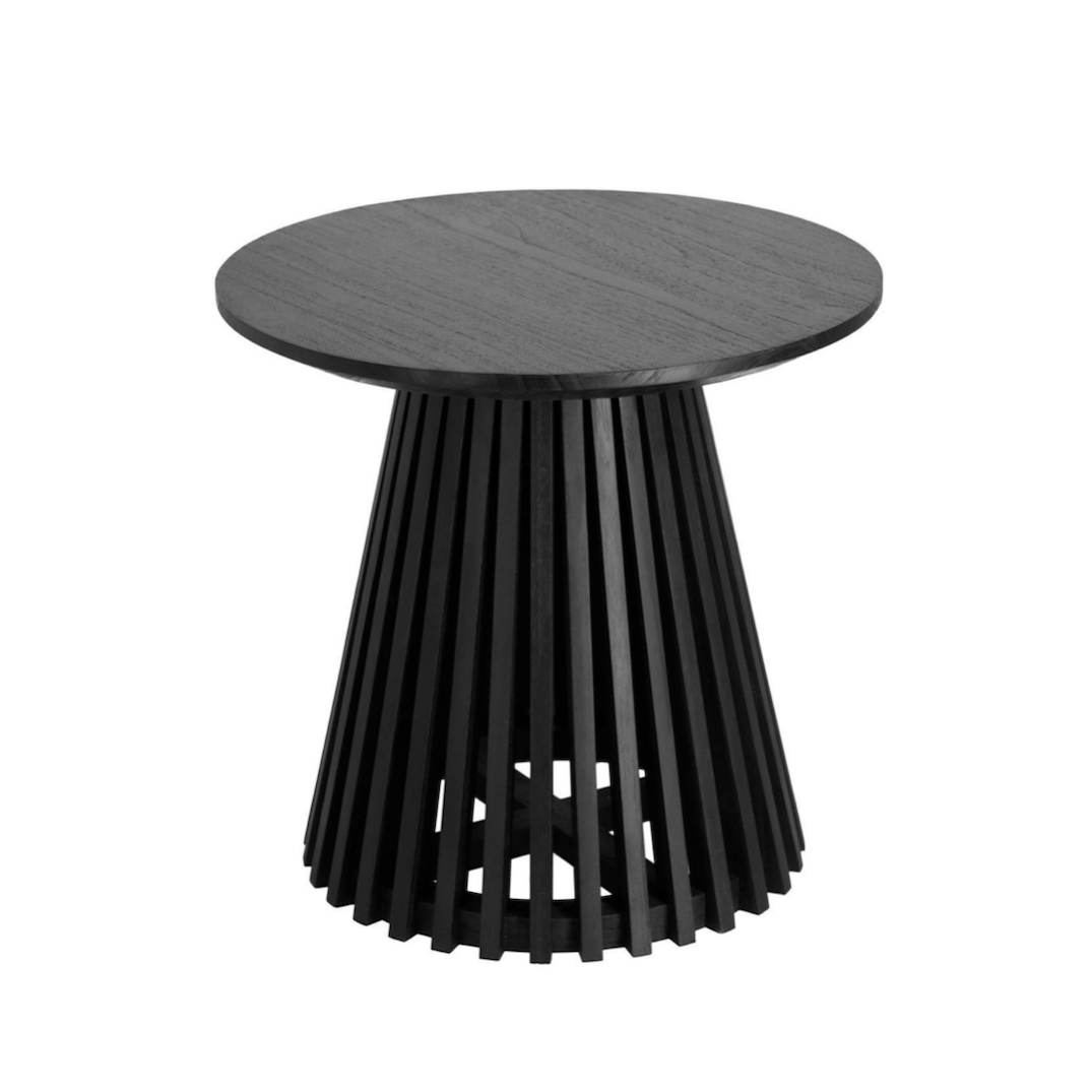 Finn Round Side Table | Black