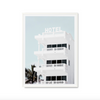 Hotel Blue Photographic Print