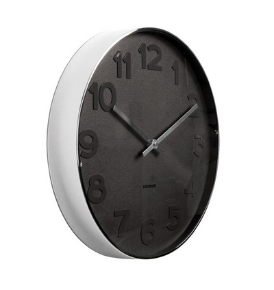Mr Black Numbers Wall Clock