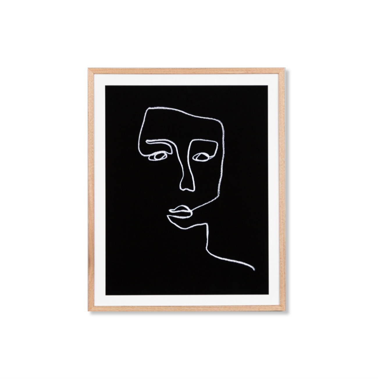 Night-Time Line Portrait Print