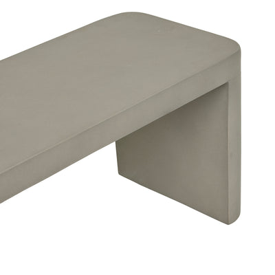 Ossa Cube Patio Bench Seat | Grey