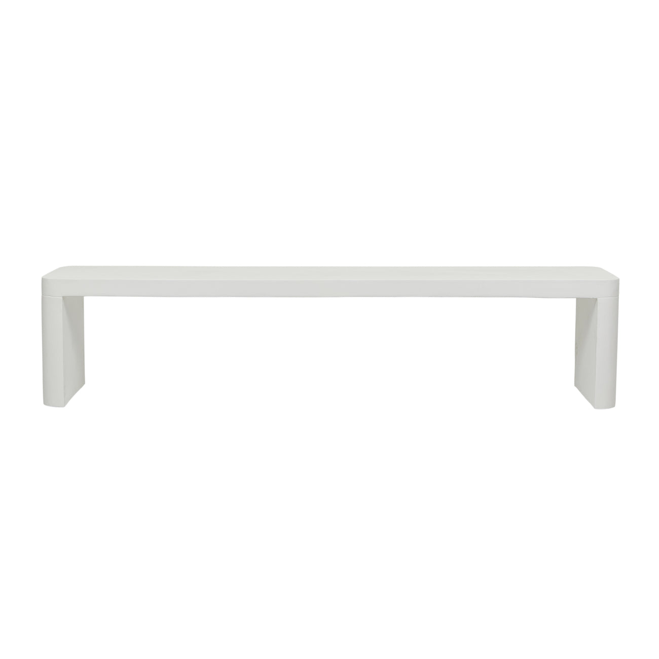 Ossa Cube Patio Bench Seat | White