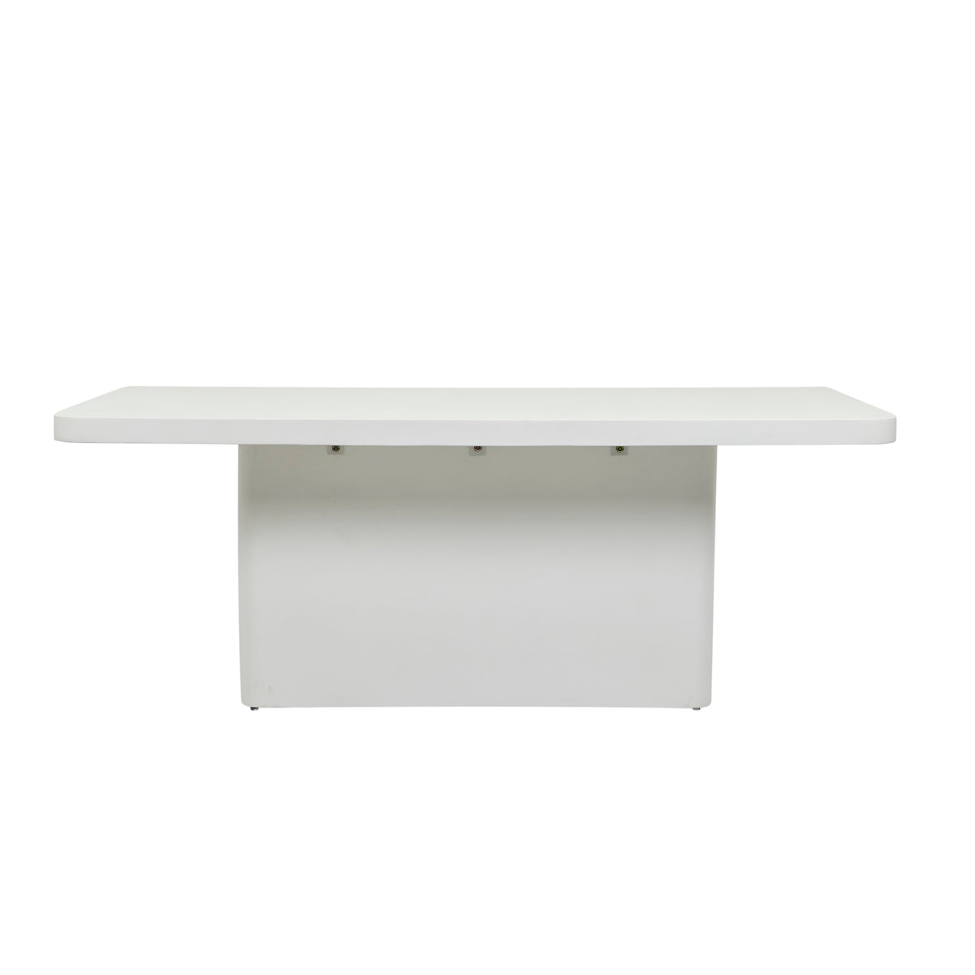 Ossa Cube Patio Dining Table | White