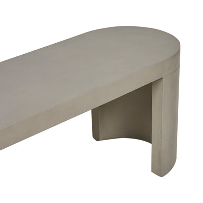 Ossa Oval Patio Bench Seat | Grey