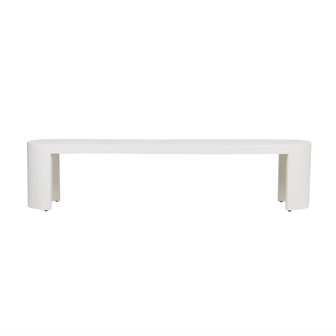 Ossa Oval Patio Bench Seat | White