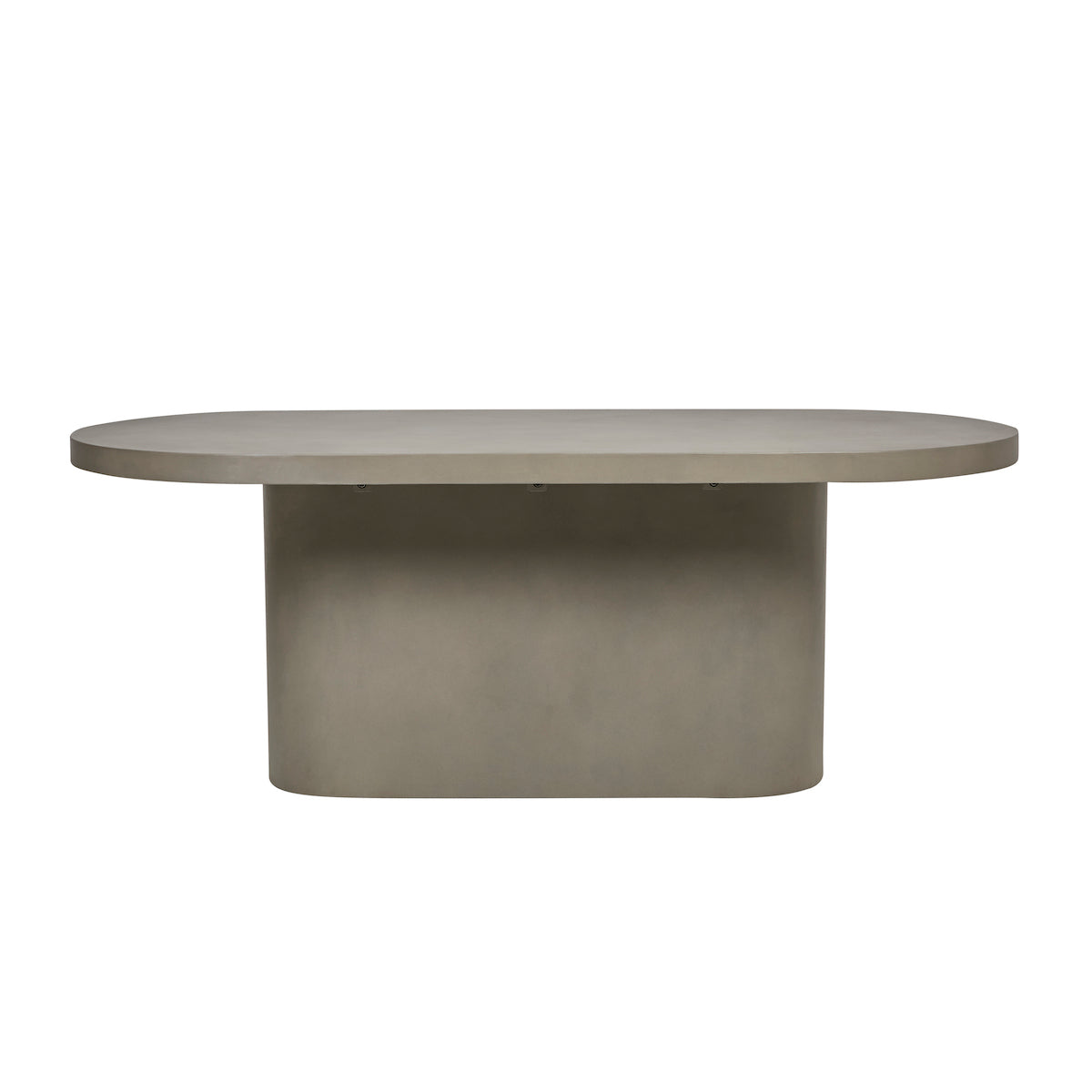 Ossa Oval Patio Dining Table | Grey