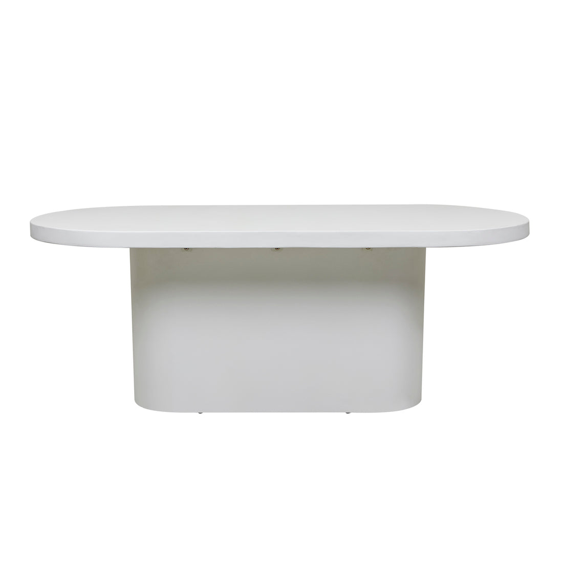 Ossa Oval Patio Dining Table | White