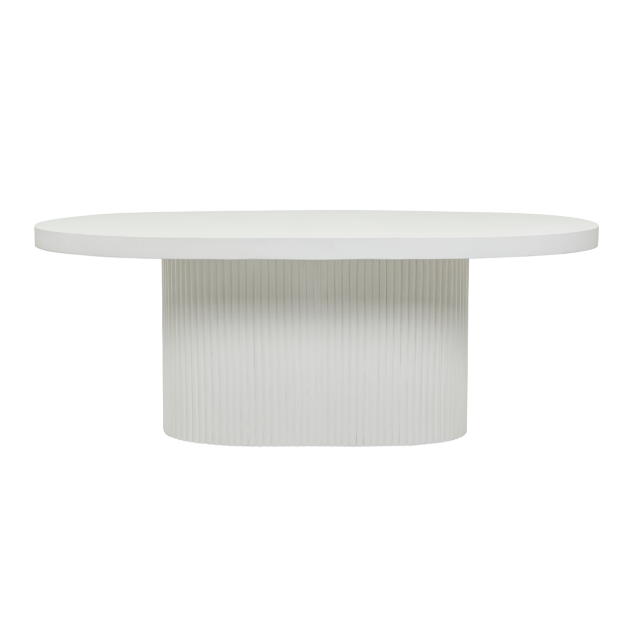 Ossa Ribbed Oval Patio Dining Table