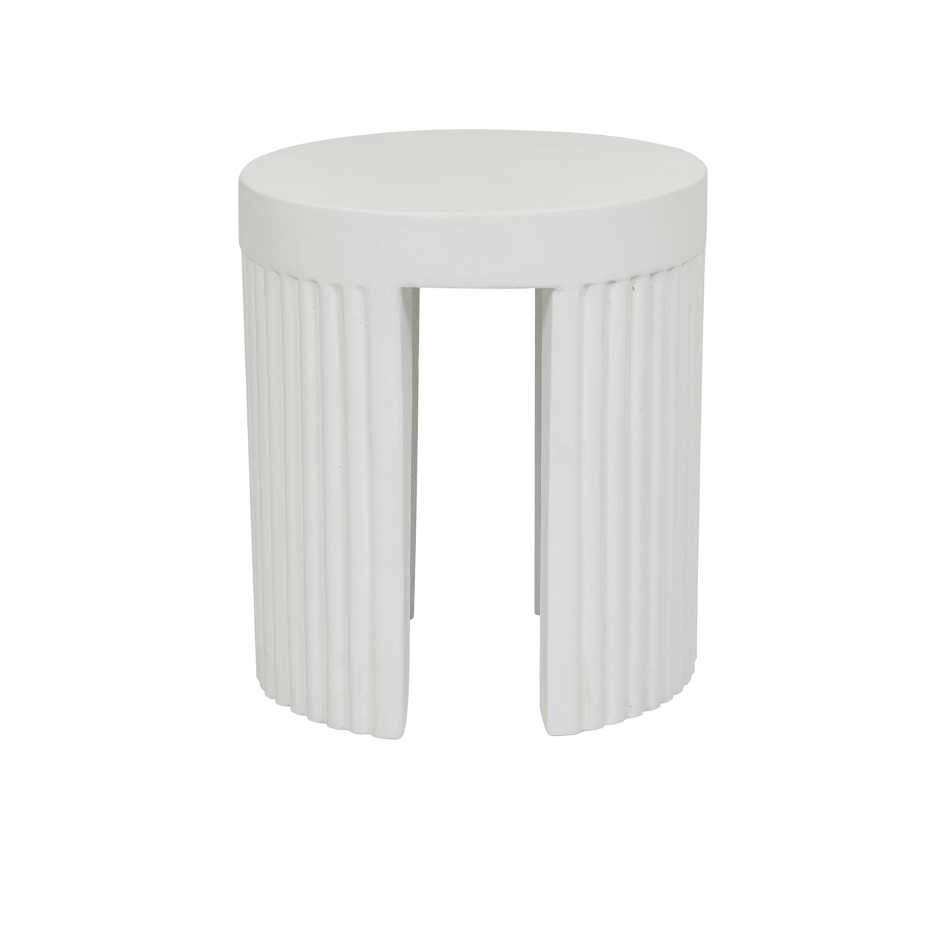 Ossa Ribbed Patio Stool