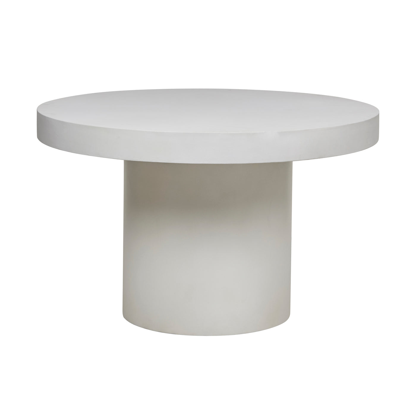 Ossa Round Patio Dining Table | White