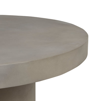 Ossa Round Patio Dining Table | Grey