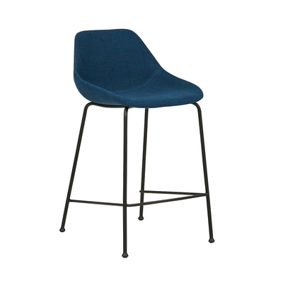 Ronald Bench Barstool | Dark Blue