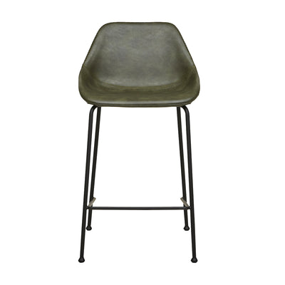 Ronald Bench Barstool | Vintage Green