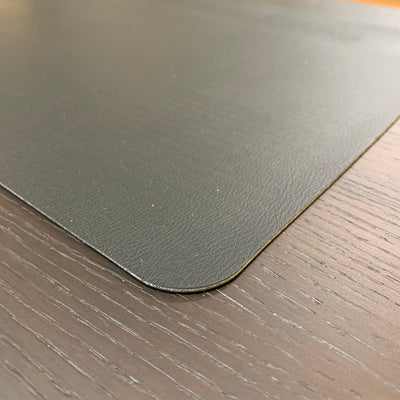 Togo Faux Leather Placemat | Grey