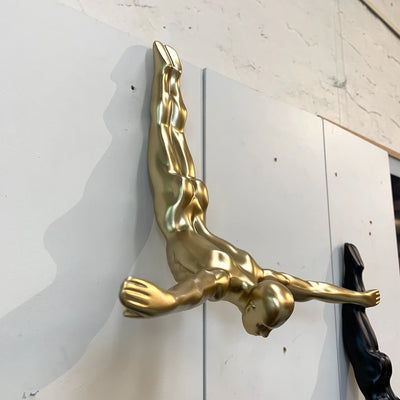Tom Diving Wall Sculpture | Gold
