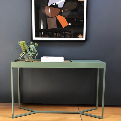 Tray Storage Console Table | Eucalyptus