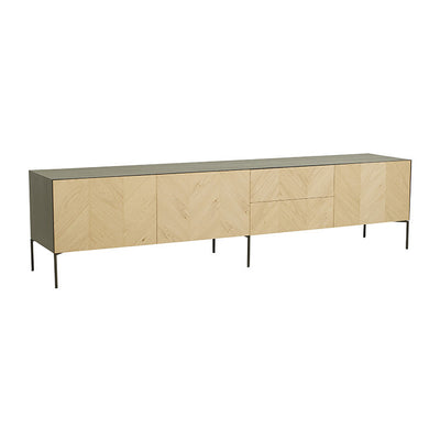Henley Chevron Large Entertainment Cabinet