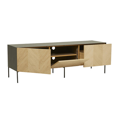 Henley Chevron Small Entertainment Cabinet