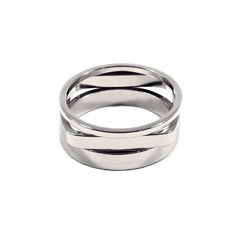 Set of 3 Silver Geometric Bands
