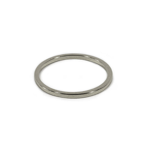 Silver Skinny Round Band