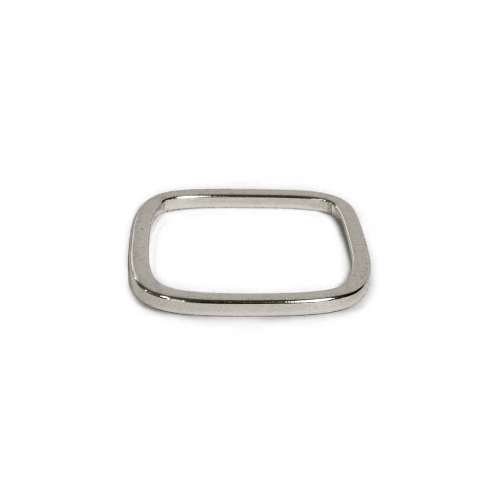 Silver Skinny Square Band