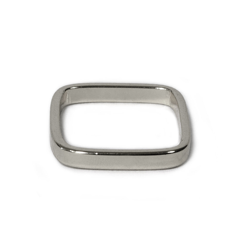 Silver Medium Square Band