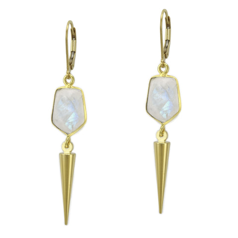 Moonstone Spike Earrings