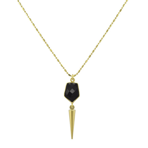 Black Onyx Spike Pendant