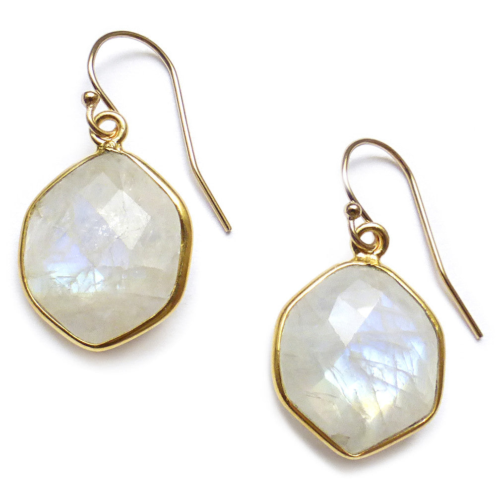 Moonstone Edge Earrings