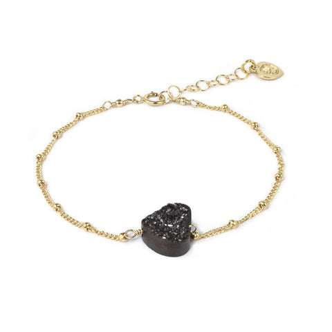 All My Heart Black Druzy Bracelet