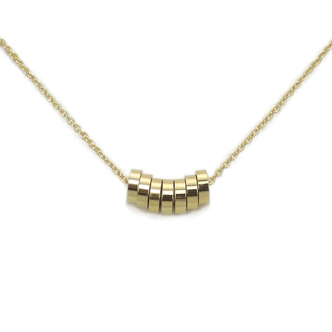 Gold Rondelle Necklace