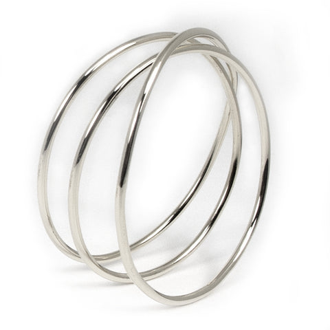 The Silver Wrap Bangle