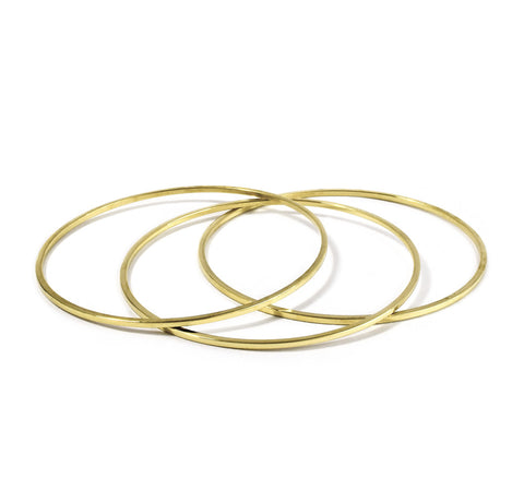 Set of 3 Skinny Round Bangles