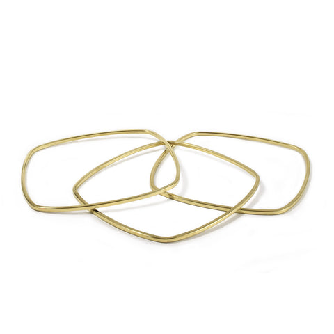 Set of 3 Skinny Square Bangles