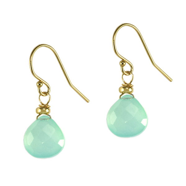 Green Chalcedony Lovely Earrings