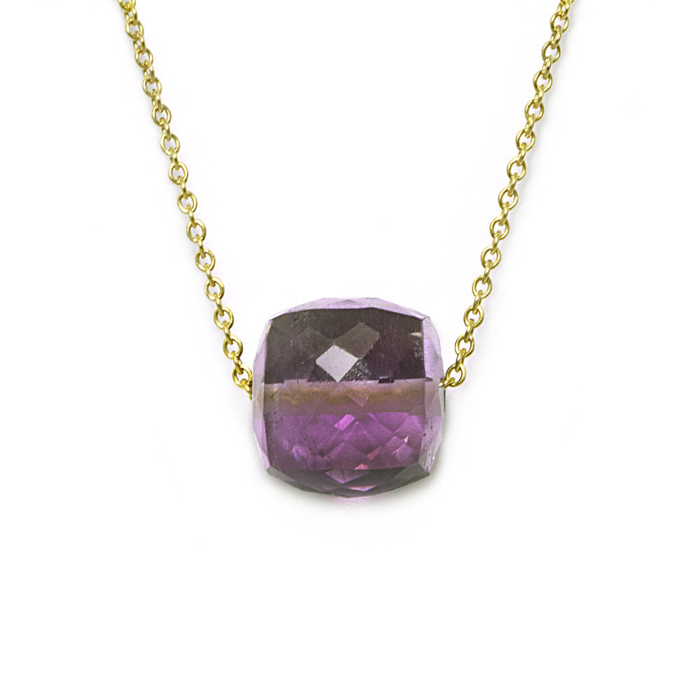 Amethyst Cube Necklace