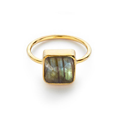 Labradorite Cushion Ring