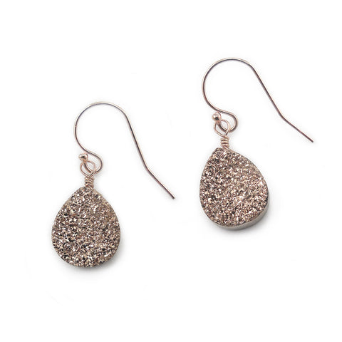 Rose Gold Sparkle Drops