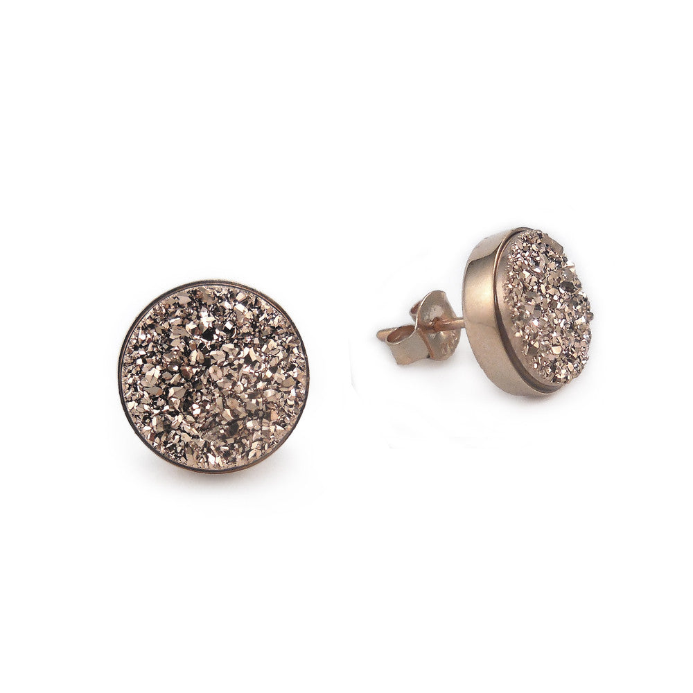 Rose Gold Sparkle Studs