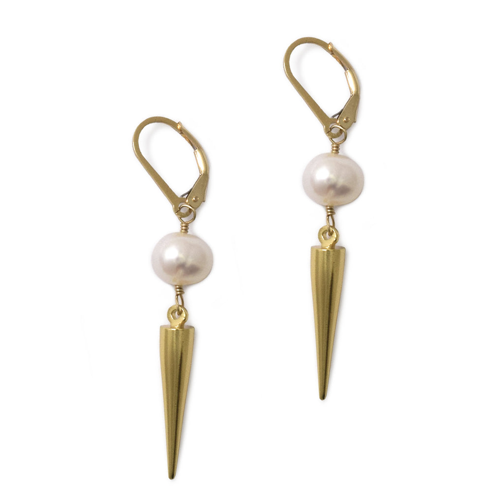 Pearl Spike Earrings