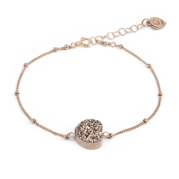 All My Heart Rose Druzy Bracelet