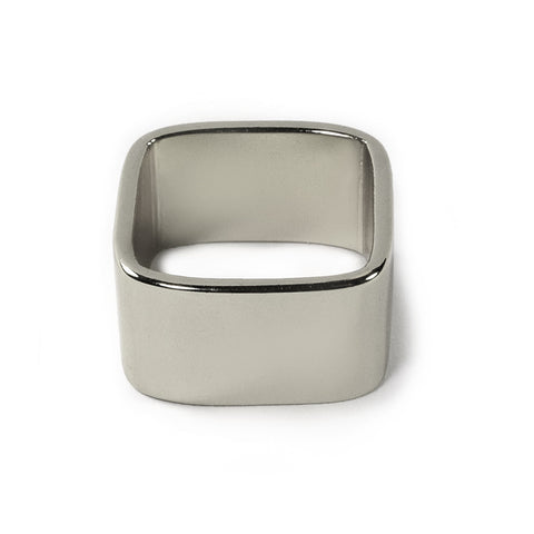 Silver Wide Square Band