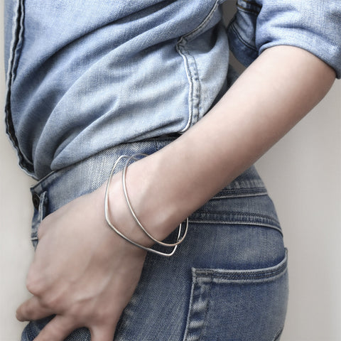 Round and Square Skinny Bangles